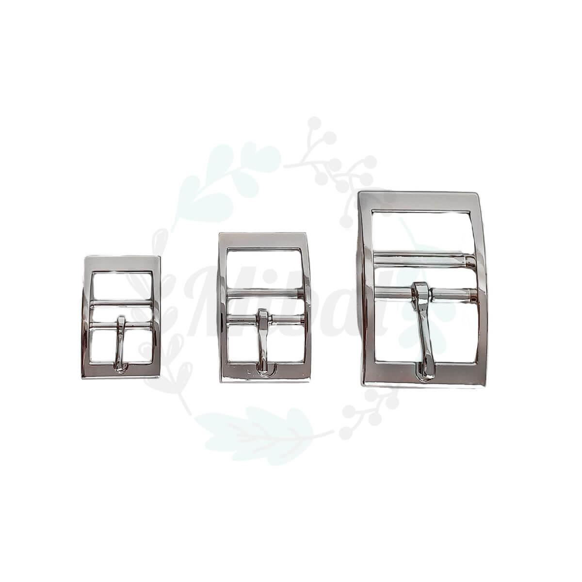 Doppelstegschnalle - Silber