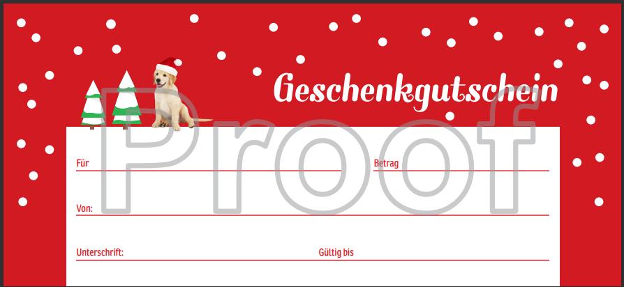 Geschenkgutschein - Christmas Edition