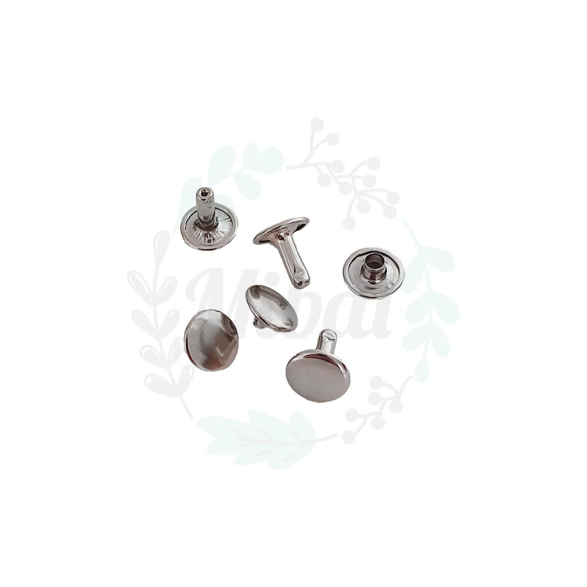 Doppelhohlnieten -Silber